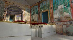 locandina di Tesori sotto i lapilli a Pompei: mostra con arredi, affreschi e gioielli della Casa del Bracciale