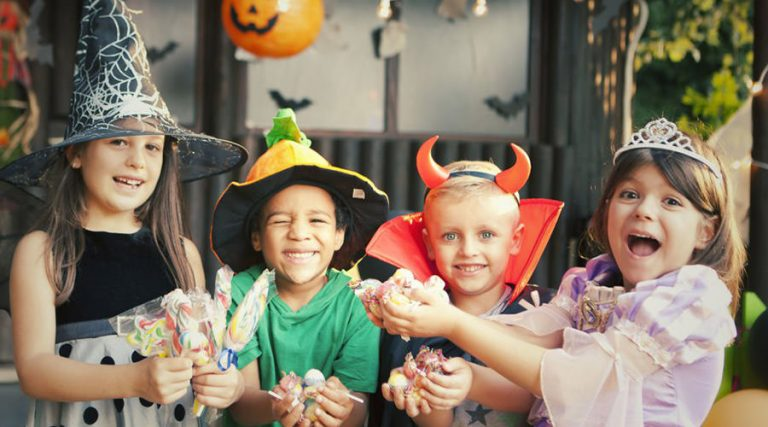 Children at Halloween, party at the Pola Park in Licola