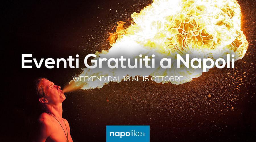 Eventi gratuiti a Napoli nel weekend dal 13 al 15 ottobre 2017