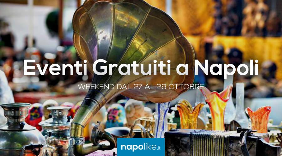 Eventi gratuiti a Napoli nel weekend dal 27 al 29 ottobre 2017