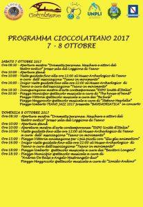 Programma Cioccolateano 2017