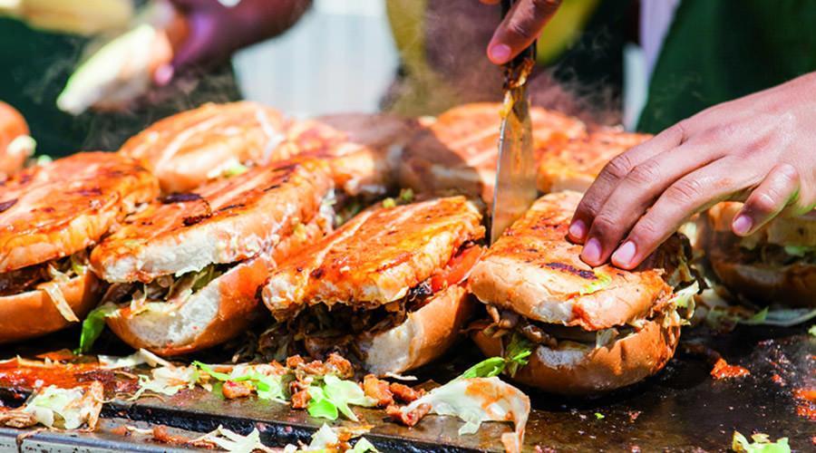 Festival de comida en la calle