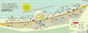خريطة قرية المزارعين على الواجهة البحرية لنابولي
