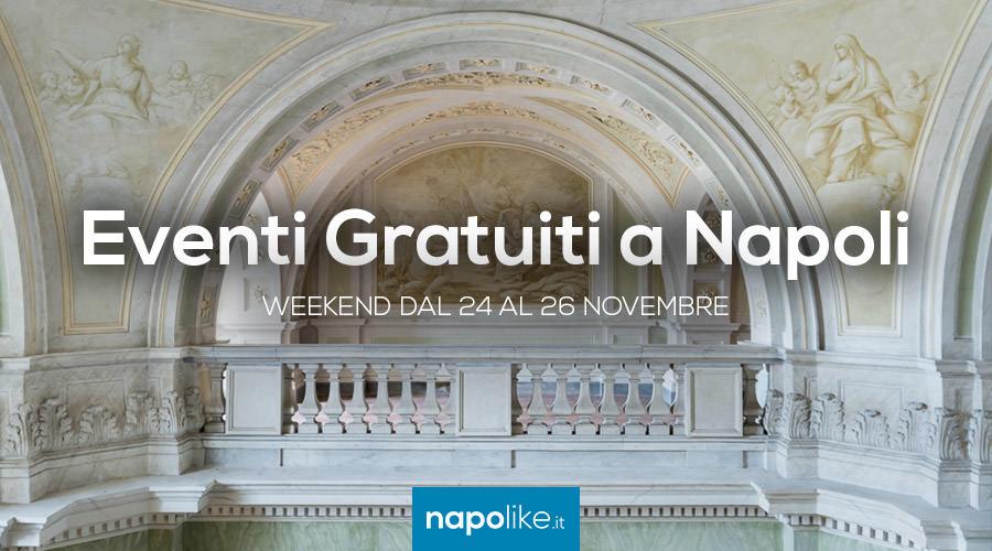 Eventi gratuiti a Napoli nel weekend dal 24 al 26 novembre 2017