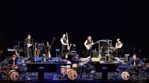 locandina di King Crimson in concerto a Pompei al Teatro Grande per il tour Uncertain Times