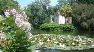 Parque del Palacio Real de Caserta, visita del Día de los Árboles