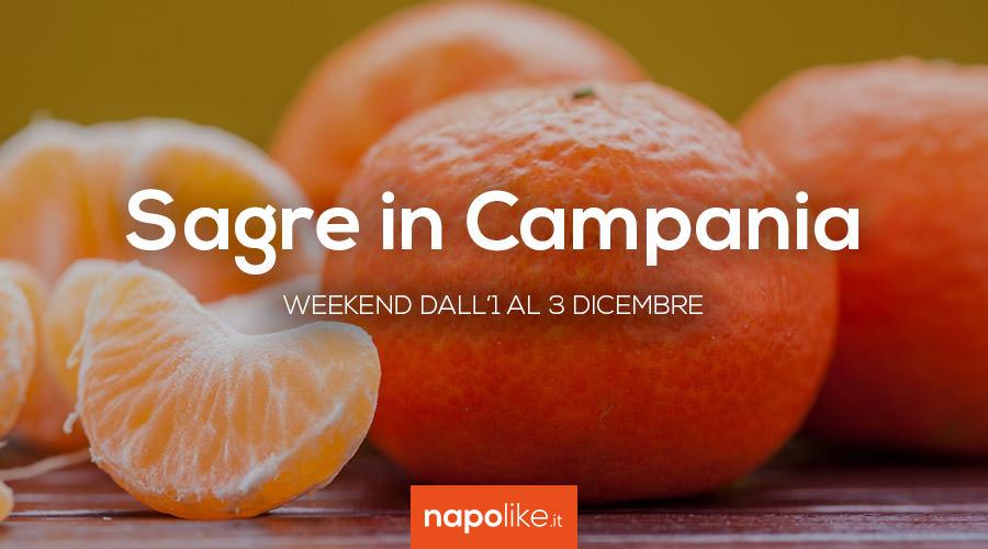 Sagre in Campania nel weekend dall'1 al 3 dicembre 2017