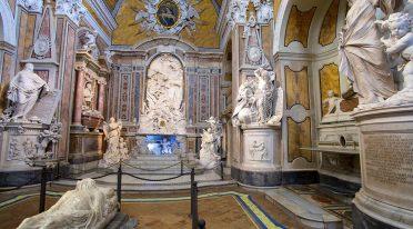 在那不勒斯的Sansevero教堂蒙着面纱的基督
