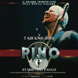 Concerto tributo a Pino Daniele, locandina del concerto al San Paolo di Napoli