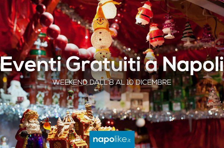 Eventi gratuiti a Napoli nel weekend dall'8 al 10 dicembre 2017