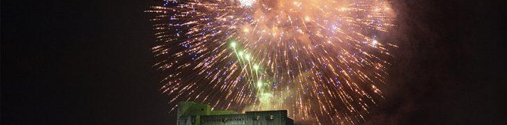 Fuochi d'artificio al Castel dell'Ovo a Capodanno