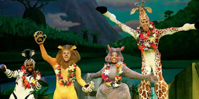 Madagaskar das Musical im Palapartenope Theater von Neapel