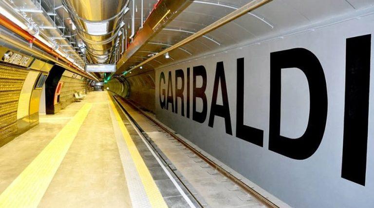 Stazione Garibaldi della metropolitana linea 1 a Napoli