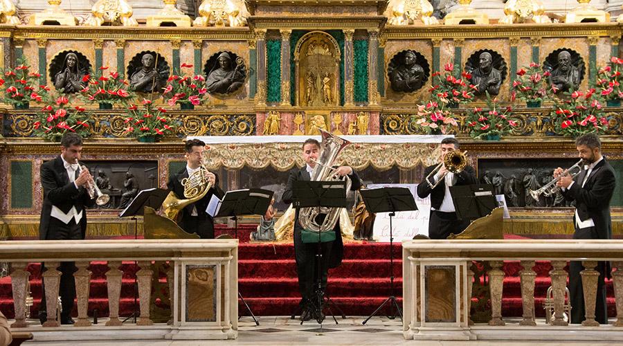 Quintessenza Brass, concierto de la Epifanía