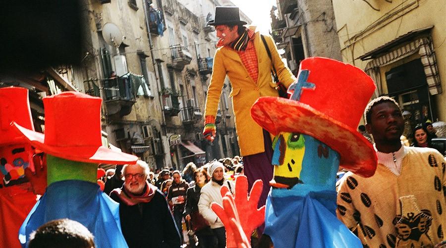 Sfilata di Carnevale a Napoli nella Sanità