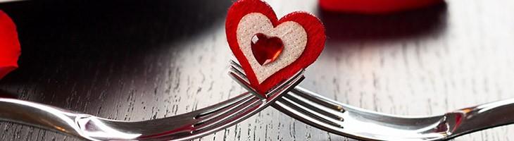 Valentinstag Abendessen