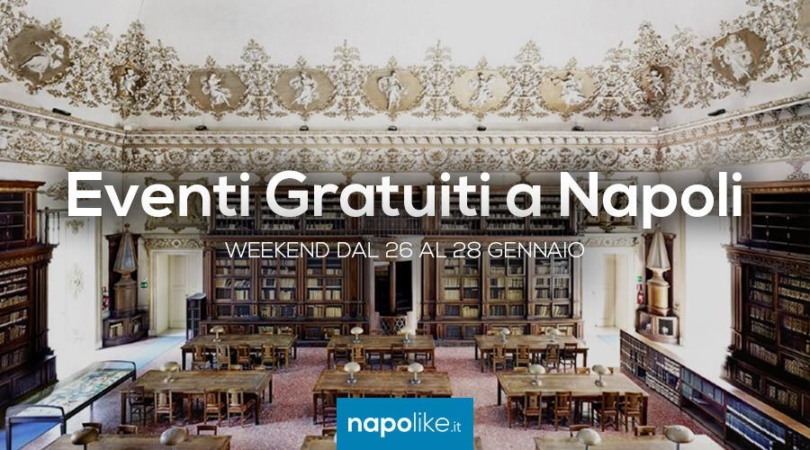 Eventi gratuiti a Napoli nel weekend dal 26 al 28 gennaio 2018