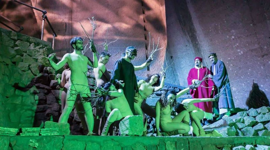 L'Inferno di Dante del Tappeto Volante al Museo del Sottosuolo di Napoli