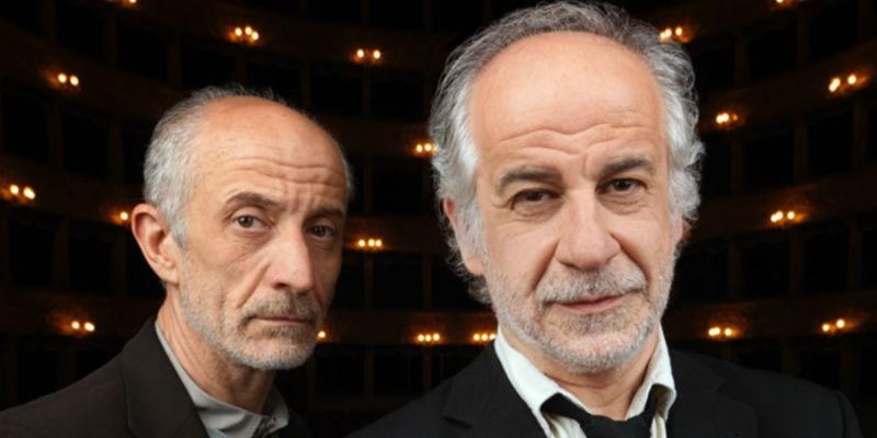 Peppe e Toni Servillo in scena al Teatro Diana di Napoli con La parola canta