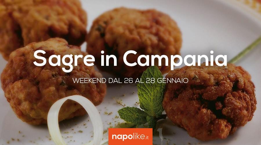 Sagre in Campania nel weekend dal 26 al 28 gennaio 2018