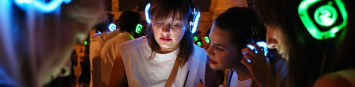 Silent Party con le cuffie wireless