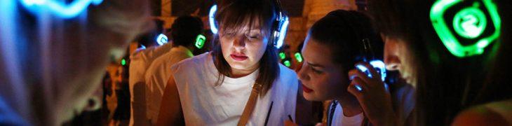 Silent Party con le cuffie wireless