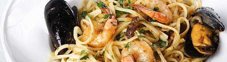 Piatto di spaghetti ai frutti di mare