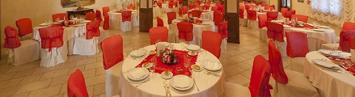 Tenuta Astroni a Napoli, tavoli in sala