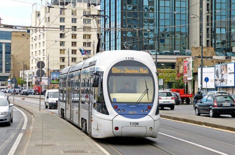 Tram in via Marina a Napoli
