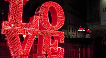 Rufen Sie in Neapel zum Valentinstag an