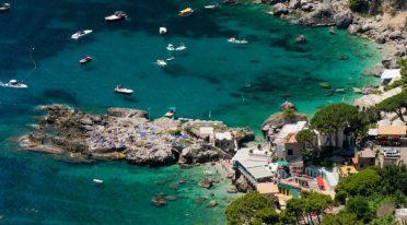 The beach of Marina Piccola in Capri
