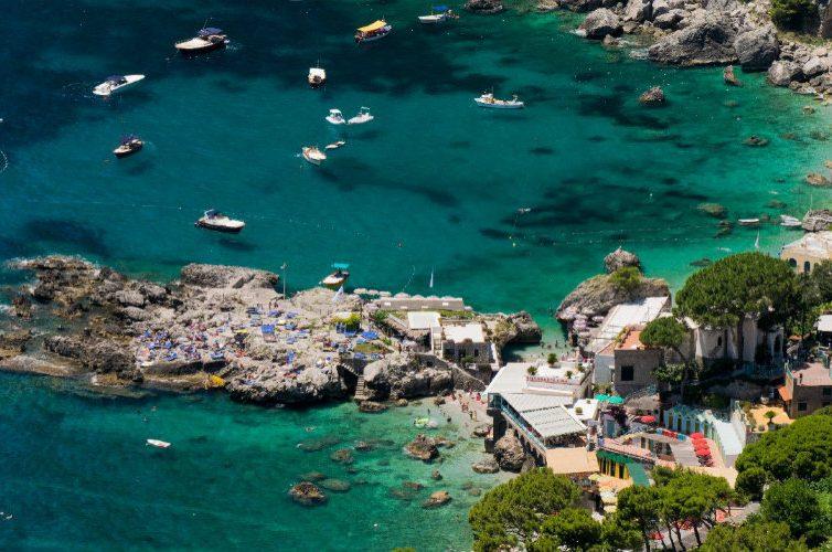 La spiaggia di Marina Piccola a Capri