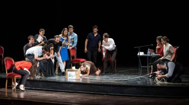 theatrical performance at the Napoli Teatro Festival