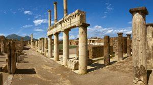 locandina di Notte Europea dei Ricercatori 2018 a Pompei: eventi e scienza nel Parco Archeologico