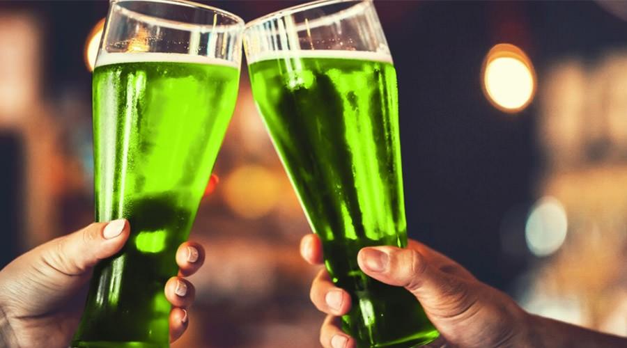 San Patrizio a Napoli, birra verde