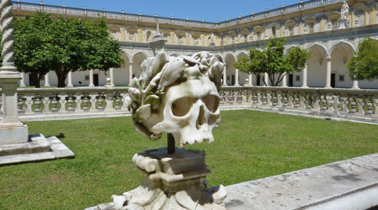 Skull in the Certosa di San Martino in Naples