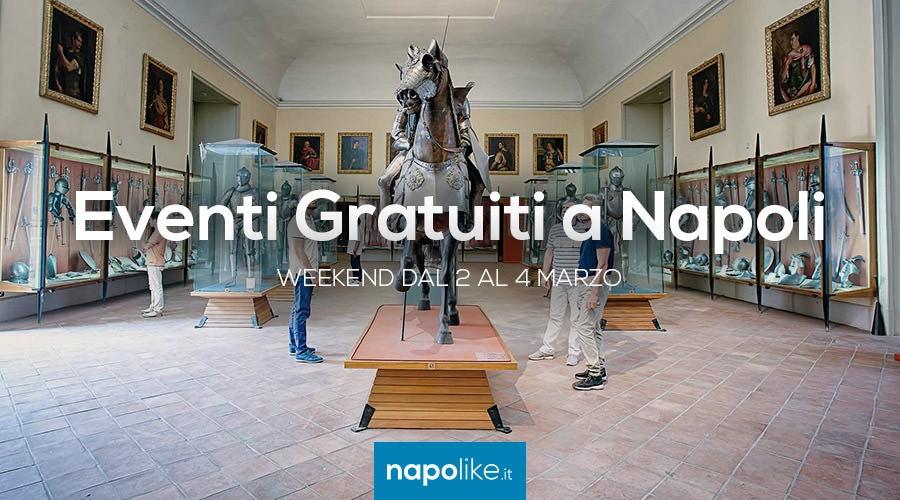 Eventi gratuiti a Napoli nel weekend dal 2 al 4 marzo 2018