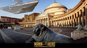 locandina di Star Wars al Museo Archeologico di Napoli: al MANN gli eroi della saga e sfilate in costume in città [Foto]