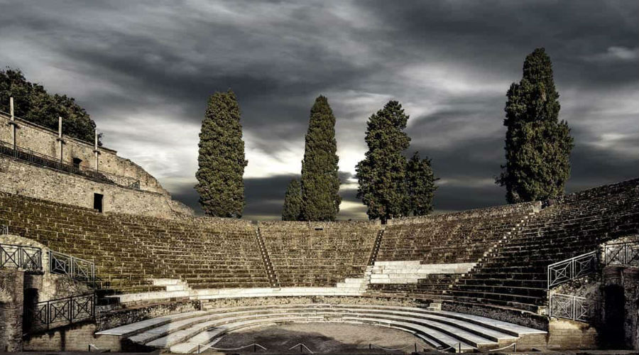 The Great Theater of Pompeii, where the second edition of Pompeii Theatrum Mundi 2018 will be held