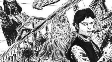 Disegno in omaggio a Han Solo al Mann di Napoli