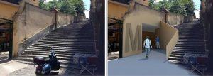 Metro Materdei prima e dopo