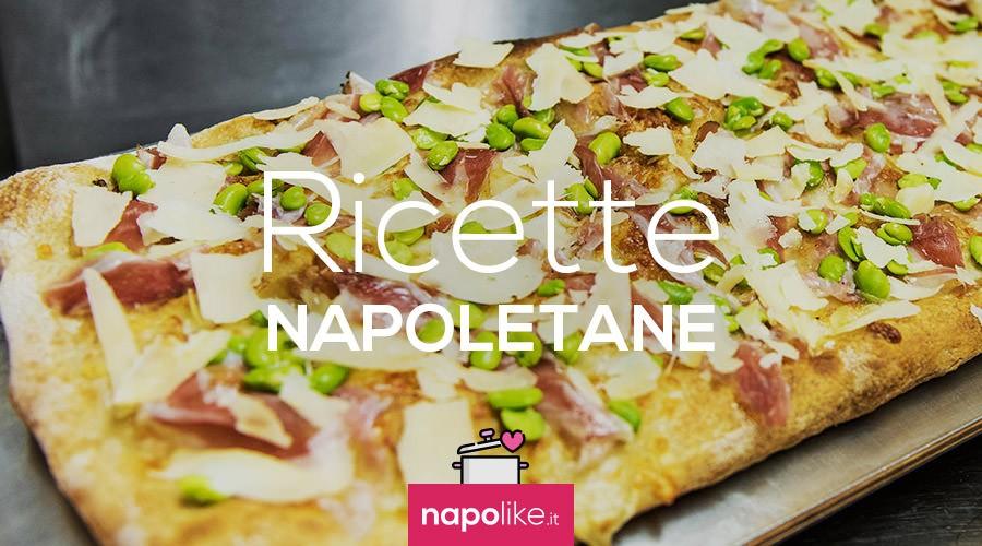 Ricetta della pizza con fave e pecorino