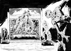 Fumetto su Spiderman al Museo Archeologico di Napoli