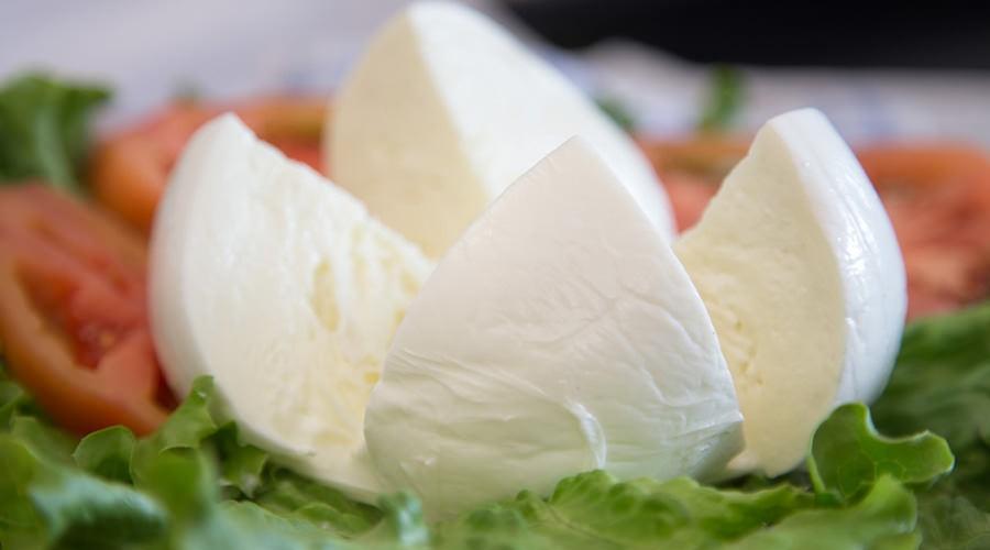 Piatto di mozzarella