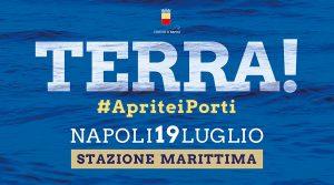 locandina di Aprite i Porti: musica e confronti a Napoli sulla gestione dei flussi migratori