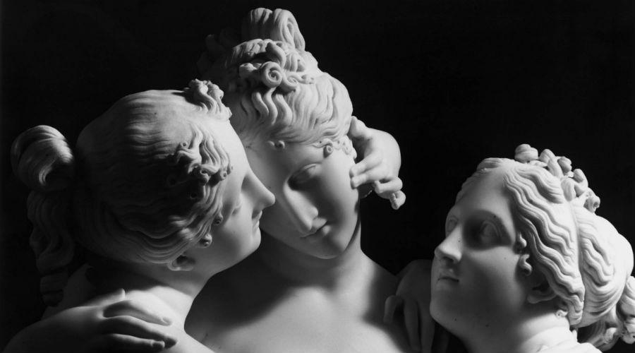 Eine Ausstellung über Antonio Canova im Archäologischen Museum von Neapel im März 2019