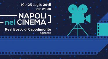 Locandina del cinema all'aperto nel Bosco di Capodimonte