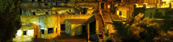 Herculaneum at night