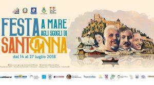 locandina di Festa di Sant'Anna 2018 a Ischia con spettacoli pirotecnici, sfilata delle barche, musica e visite guidate