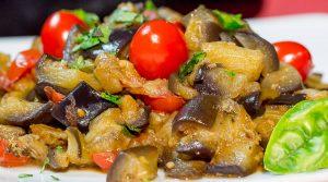 locandina di Sagra della melanzana 2018 a Santa Maria La Carità con piatti locali gustosi